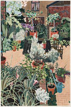 Prints & Graphics - Cressida Campbell - Page 3 - Australian Art Auction Records Garden Illustration, Botanical Illustration, National Art School, Art Chinois, Social Art, Art Japonais, Collaborative Art, Australian Artists, Illustrations