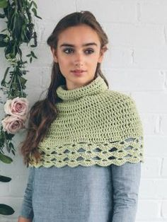 Cape / Poncho - Crochet this accessory cape/poncho from 10 Simple Crochet Projects. A design by Sarah Hatton using our lovely All Seasons Cotton (cotton and...