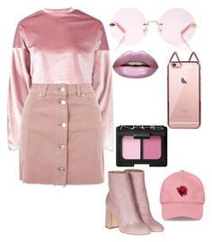 On Wednesdays we wear pink by marix-andrlima on Polyvore featuring polyvore fashion style Boohoo Topshop Laurence Dacade Karen Walker NARS Cosmetics Huda Beauty clothing