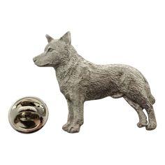 Australian Cattle Dog Pin ~ Antiqued Pewter ~ Lapel Pin