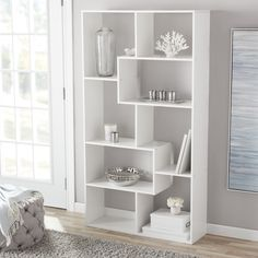 Mainstays 8 Cube Bookcase, White or Espresso White Bookshelves, Cube Bookcase, Bookcase Storage, Book Storage, Storage Baskets, White Cube Shelves, Storage Drawers, Floating Shelves, Regal Display