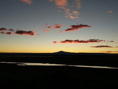 Sunset in the desert Atacama in Chile.