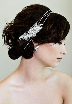 Sara Gabriel Veiling & Headpieces made with SWAROVSKI ELEMENTS: www.swarovski-elements.com/wedding