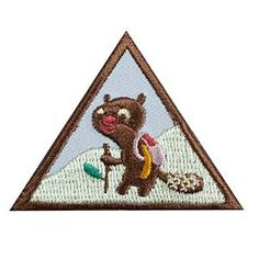 Girl Scout Brownie Hiker Badge. Check out the requirements in The Girl's Guide to Girl Scouting. Girl Scout badges $1.50.
