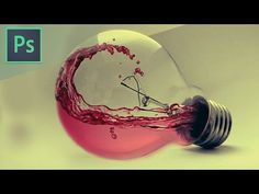 Photoshop CS6 Tutorial - Water Photo manipulation Bulb - YouTube