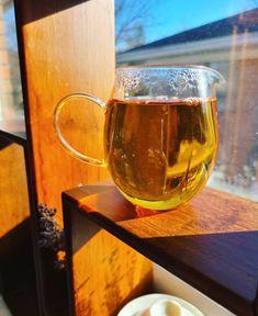 Finally a sunny day in Ottawa! Warm Sun warm tea life is good! #morningtea #blacktea #yixing #wintertea