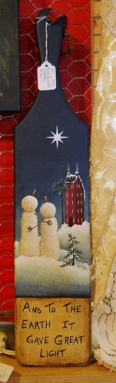 Snowmen, snowman, Christmas, Folk Art, Sign, Painting, Original, Wooden