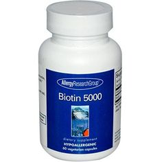 Allergy Research Group - Biotin 5000 60 capsules