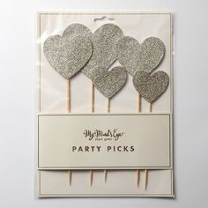 【My Mind's Eye】Fancy Cake Topper-Glitter Hearts |LOUNGE WEDDINGのガーランド・リングピロー