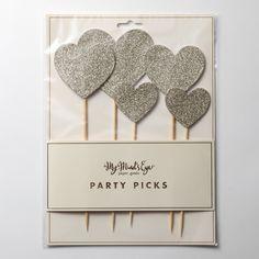 【My Mind's Eye】Fancy Cake Topper-Glitter Hearts |LOUNGE WEDDINGのガーランド・リングピロー