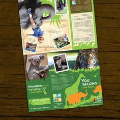 Zoo Miami membership brochure by Ana Verástegui, via Behance Zoo Tickets, Zoo Project, Wild Animal Park, Atlanta Zoo, Toronto Zoo, Photography Brochure, Animal Templates, Graphic Design Brochure, In The Zoo