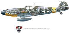 """Messerschmitt Bf 109G-2 """"Black 13"""" Gunther Rall 1942"""