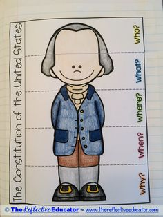 Constitution is a Social Studies lesson designed to teach upper elementary… 4th Grade Social Studies, Social Studies Activities, Teaching Social Studies, Classroom Activities, Student Reading, Student Work, History Classroom, Interactive Notebooks, Constitution