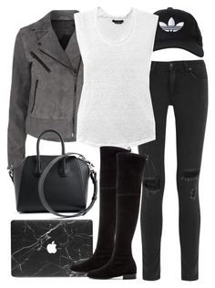 """""""Untitled #2617"""" by elenaday on Polyvore featuring rag & bone, adidas Originals, Isabel Marant, Givenchy, Stuart Weitzman, women's clothing, women, female, woman and misses"""