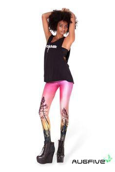 Women Leggings Sexy Styles Fashion Women pink tree Print Leggings 2016 Spring Women Leggings leggins Print Pattern