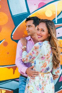 Walls of wynwood engagement photography grafitti Miami wedding photographer #grafitti #engagmentphotos