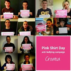 "@japan_pinkshirtday's photo: ""It's time to #stopbullying !! #PinkShirtDay #antibullying campaign #croatia 2015. Pics from FB @CEPN. class=""lnk-search-tag"" href=""#/tags/ピンクシャツデー"">#ピンクシャツデー"""