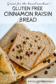 Bread machine recipes just met their match… Thick slices of this gluten free bread machine cinnamon raisin bread, bursting with plump, juicy raisins are the ultimate treat for mornings, lunches and every minute in between. Gluten Free Baking, Gluten Free Recipes, Bread Recipes, Bread Machine Recipes Healthy, Paleo Recipes, Dessert Recipes, Desserts, Pain Aux Raisins, Cinnamon Bread