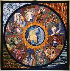 ZOOYA Diamond Embroidery The Zodiac Full Diamond Painting DIY Kits Diamond Mosaic Painting Rhinestones Needlework Crafts Astrology Chart, Astrology Signs, Zodiac Signs, Learn Astrology, Art Zodiaque, Zodiac Wheel, Tarot Gratis, Moon Magic, Zodiac Art