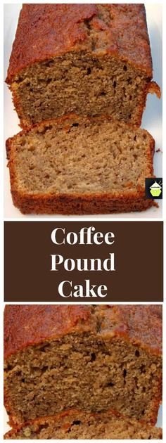 Moist Coffee Pound Cake - Great as a loaf or round cake this is. Moist Coffee Pound Cake - Great as a loaf or round cake this is a soft moist cake with a lovely gentle coffee taste and perfect with your morning coffee too! Classic Coffee Cake Recipe, Moist Coffee Cake Recipe, Coffee Bread Recipe, Baking Recipes, Dessert Recipes, Pound Cake Recipes, Loaf Recipes, Moist Cake Recipes, Easy Pound Cake