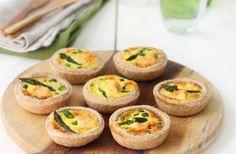 Piccole quiches al farro con salmone e asparagi - Chef ASDOMAR