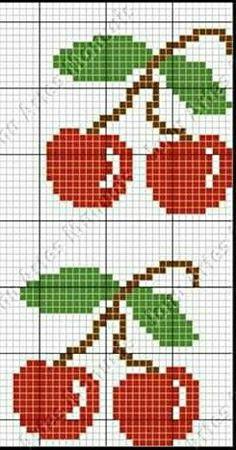 Cross Stitch Fruit, Small Cross Stitch, Butterfly Cross Stitch, Cross Stitch Borders, Cross Stitch Baby, Cross Stitch Charts, Cross Stitch Designs, Cross Stitching, Cross Stitch Patterns