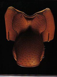 Devoucoux Ostrich Saddle. EquippedEquine.com #horse #horses #equine #equestrian #equippedequine #beautiful #design #interiordesign #art #saddle #decoucoux #interiordecorating