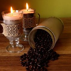 How to Make Coffee Candles