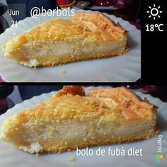 Bolo de Fubá Diet Cremoso Churros, Sweet Recipes, Healthy Recipes, Light Diet, Health Diet, Fitness Diet, Coco, Sugar Free, Cupcake Cakes