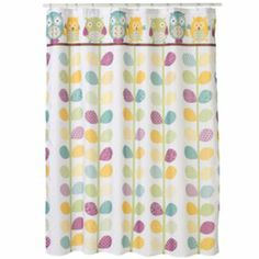 jumping beans in the air striped shower curtain | bathroom ideas
