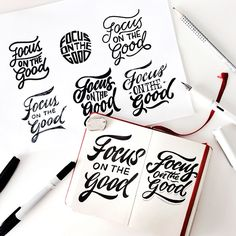 Hand lettering 2016 on Behance Creative Typography, Typography Letters, Typography Poster, Doodle Lettering, Brush Lettering, Lettering Design, Calligraphy Markers, Calligraphy Fonts, Hand Fonts