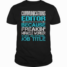 Awesome Tee For Communications Editor