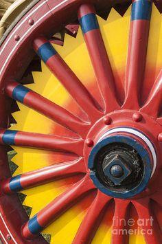 circu wagon wheel   Circus Photograph - Circus Wagon Wheel by Michael DeFreitas