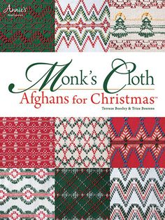 Get stitching!    Everything you need to know about stitching on monk's cloth is included in the 5-page how-to section in this 28-page book. Even better, designs for 10 afghans full of Christmas cheer are included. Stitch them to give as gifts to your loved ones and to add cheer to your holiday decor.