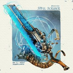 Fantasy Character Design, Character Design Inspiration, Character Art, Dungeons And Dragons Homebrew, D&d Dungeons And Dragons, Anime Weapons, Fantasy Weapons, Steampunk Weapons, Sword Design