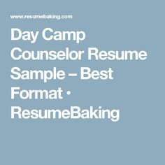 is your resume as powerful as it should be use this summer camp