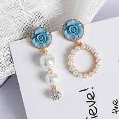 Jewelry & Accessories Aomu Korea Design Macaron Candy Color Matte Acrylic Irregular Geometric Glass Resin Ball Long Drop Earrings For Women Girl Gift Profit Small