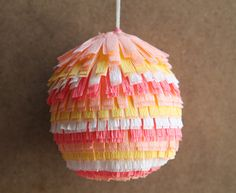 Pinata Easter Egg by Tiffanie Turner for A Subtle Revelry #pinata #piñata #easter #egg
