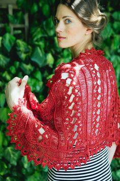 Navajo hairpin lace crochet stole shawl