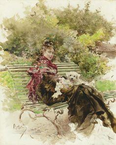 In the Park. Giovanni Boldini