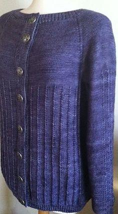 Mariela Top-Down Cardigan by Vera Sanon, knit in Anzula Cricket