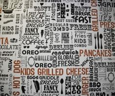 """Deelish"" Kitchen Wallpaper"