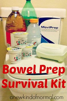 After multiple colonoscopies, I thought I would share my wisdom that I have acquired over the years with you wonderful readers and share my bowel prep survival kit.