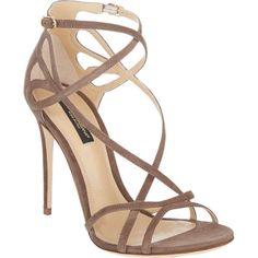 Dolce & Gabbana Cutout Crisscross-Straps Keira Sandals
