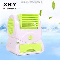 Creative Fragrance Air Conditioning No Leaf Turbo Fan Household Desktop Mini USB Fan(Blue/Pink/Green) Desk Fan, Pink And Green, Household, Fragrance, Usb, Humidifiers, Mini, Creative
