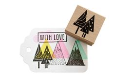 Trees stamp by MissHoneyBird on Etsy