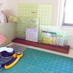 """""""My rulers have been so good to me, I bought them a home to live in.  They look happy.  #rulerrack by #omnigrid """""""