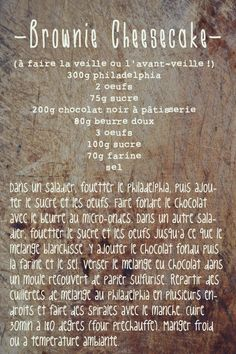 Recette de brownie-cheesecake ! Miam ! Source : http://spoonencore.blogspot.fr/2012/10/brownie-cheesecake.html?spref=fb