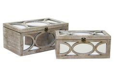 Asst. of 2 Josephine Boxes, Tan $129.00 - OneKingsLane.com