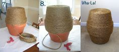 Design Itch: DIY Rope Side Table....http://www.thedesignitch.com/2012/11/diy-rope-side-table.html